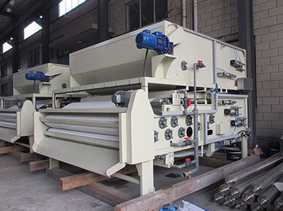 Three Filter Belt Type Concentrating Filter Press